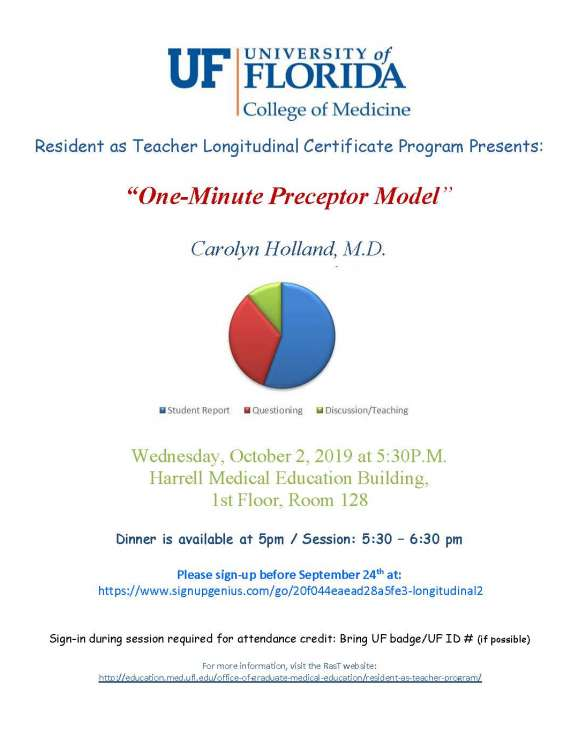 One-Minute Preceptor Model flier