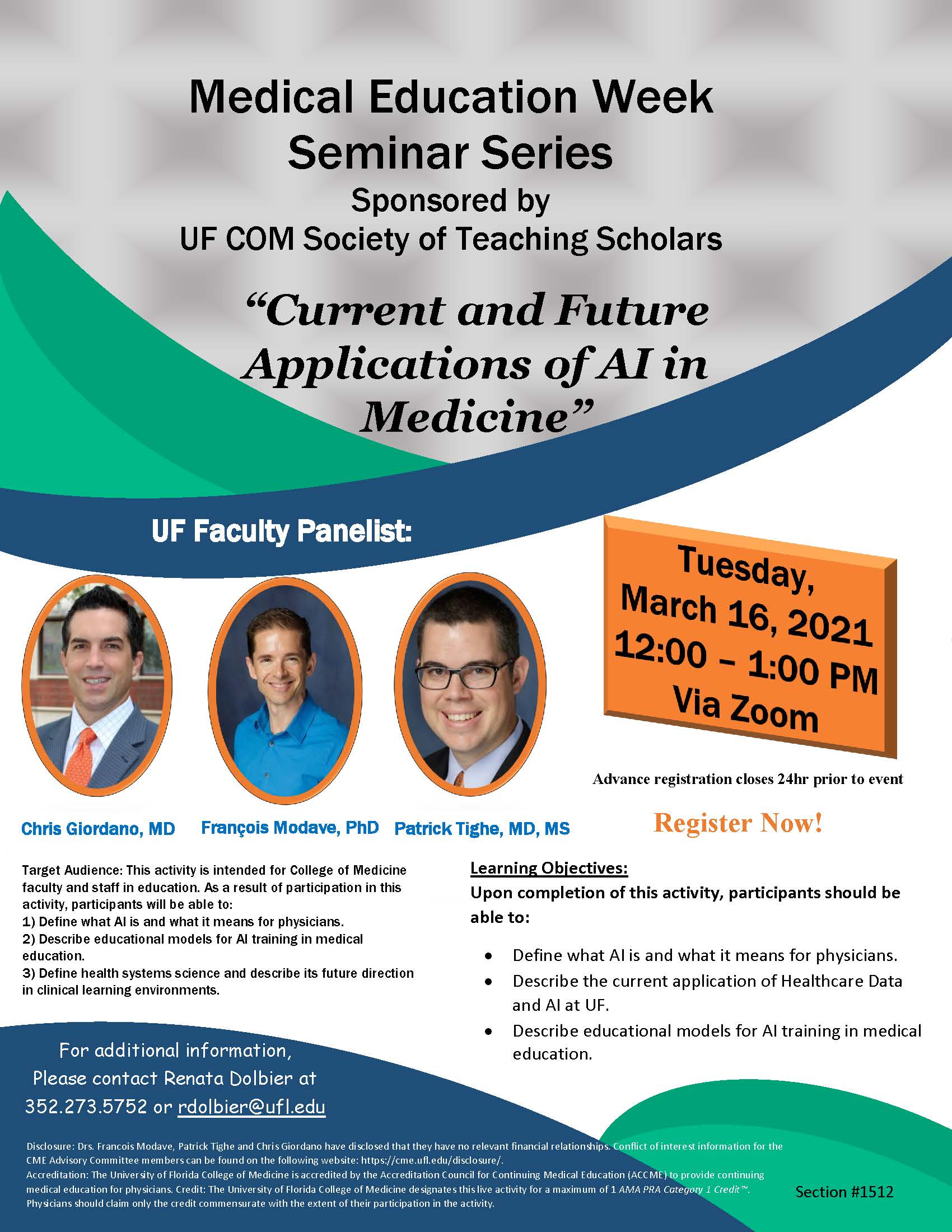 UF Faculty panelists